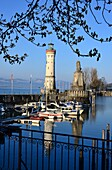 at the port of the island of Lindau on Lake Constance, Bavaria, Germany