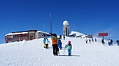 Parsenn ski area, winter in Davos, Graubünden, Switzerland