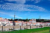 on the Rio Sado with Castelo, Alcácer do Sal, Costa Dourada, Alentejo, Portugal