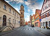 Nördlinger Strasse in Dinkelsbühl, Bayern, Deutschland