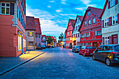 Nördlingerstrasse in Dinkelsbuehl, Bavaria, Germany
