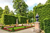 Westparterre in the park of Linderhof Palace, Ettal, Bavaria, Germany