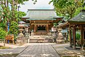 Hanzono Inari Shrine in Ueno Park, Tokyo, Japan