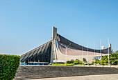Yoyogi National Gymnasium Sports Center at Yoyogi Park in Shibuya, Tokyo, Japan