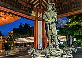 Sculpture of Sakara, the king of water by Kotaro Takamura on a fountain at Sensoji Temple, Asakusa, Tokyo, Japan