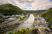 Panorama of the spa town of Bad Ems, UNESCO World Heritage Site 'Major Spa Towns of Europe', Rhineland-Palatinate, Germany