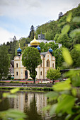 Russian Orthodox Church of St Alexandra in the spa town of Bad Ems, UNESCO World Heritage Site 'Important Spa Towns in Europe', Rhineland-Palatinate, Germany