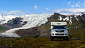 Camping on the glacier, Skaftafell National Park, South Coast, Iceland