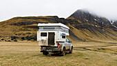 Camping an den Ostfjorden Islands