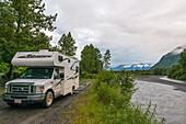 Camping by the river, Alaska, USA