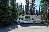 Camping im Yellowstone Nationalpark, Wyoming, USA