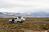 With the motorhome on Iceland
