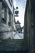 View of the Rothenberger city gate of the medieval town of Seßlach in the Upper Franconian district of Coburg