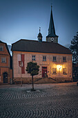 View of the town hall of the medieval town of Seßlach in the Upper Franconian district of Coburg