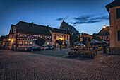Town square of the medieval town of Seßlach in the Upper Franconian district of Coburg