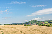 View of the summer landscape around the Heldburg, Heldburg - Bad Colberg, Thuringia