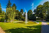 Fountain in Forchheim City Park, Bavaria, Germany