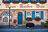 Ehemalige Weiss-Tauben-Brauerei in der Kapellenstraße in Forchheim, Bayern, Deutschland