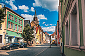 Upper town in Kulmbach, Bavaria, Germany