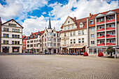 Neumarkt in Gotha, Thuringia, Germany