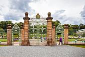 Eingangstor der Orangerie Gotha, Thüringen, Deutschland