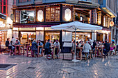 Restaurants in the old town of Malaga, Costa del Sol, Malaga Province, Andalusia, Spain, Europe