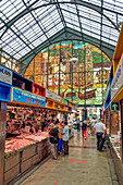 Mercado Central de Atarazanas, traditional market hall with a large selection of food and tapas bars, Malaga, Costa del Sol, Malaga Province, Andalusia, Spain, Europe
