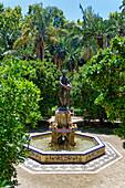 Fountain in Malaga, Costa del Sol, Malaga Province, Andalusia, Spain, Europe