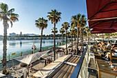 Atlantis Lounge Bar, Paseo de la Forala, Malaga, Costa del Sol, Malaga Province, Andalusia, Spain, Europe
