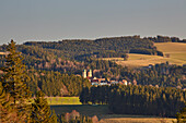 View from St. Peter to St. Märgen, Southern Black Forest Nature Park, Southern Black Forest, Black Forest, Baden-Wuerttemberg, Germany, Europe