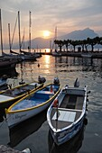 At the port of Torri del Benaco, east bank, Lake Garda, Veneto, Italy