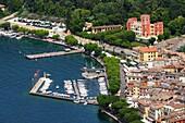 View of Garda from Rocca di Garda, east bank, Lake Garda, Veneto, Italy