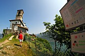 Santuario delle Ceriola on the mountain on Monte Isola, Lake Iseo, Lombardy, Italy