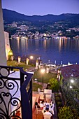 View to Sulzano in Peschiera on Monte Isola, Lake Iseo, Lombardy, Italy