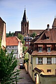 Wissembourg with Church of St. Pierre-et-St.Paul, Alsace, France
