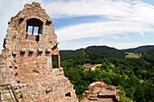 Chateau de Fleckenstein near Obersteinbach, Wissembourg, Alsace, France