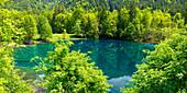 Christlessee, a mountain lake in the Trettachtal, near Oberstdorf, Oberallgäu, Allgäu, Bavaria, Germany, Europe