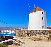 Windmills Kato Mili, Mykonos Town, Mykonos, Cyclades Islands, Greece