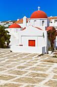 Greek orthodox chapel, Mykonos Town, Mykonos, Cyclades Islands, Greece