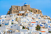 View of Chora, Astypalea, Dodecanese Islands, Greece