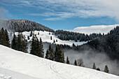 Winter in the Chiemgau Alps, Sachrang, Bavaria, Germany
