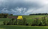 Mammatus clouds after a rain shower, Monheim, Bavaria, Germany
