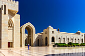 The mighty Sultan Qaboos Mosque in Muscat in Oman is perfectly maintained