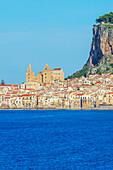 Cefafu seafront, Cefalu, Sicily, Italy, Europe
