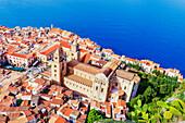 Cefalu, top view, Cefalu, Sicily, Italy, Europe
