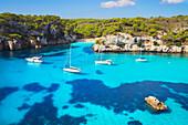 Cala Macarelleta, elevated view, Minorca, Balearic Islands, Spain