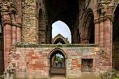 Melrose Abbey, Abtei-Ruine, Zisterzienser, Kloster, Scottish Borders, Schottland, UK