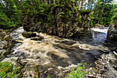 Whitewater, river in the Strathmashie Forest at Laggan, Gorge, Cairngorms, Scotland, UK