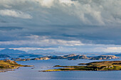 View from Coigach Peninsula, Archipelago, Tangle of Summer Isles, Wester Ross, Scotland, UK