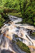 Waterfall at Glenbranter, Argyll, Scotland UK